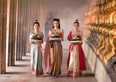 Full moon Noppamas Queen Contest in Loy Krathong tradition, Thailand