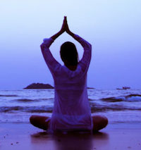 Maui healing yoga on beach